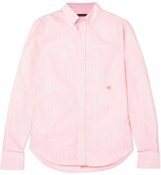 Acne Studios Ohio Face Striped Cotton Shirt - Pink