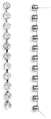 Aqua Linear Drop Earrings - 100% Exclusive
