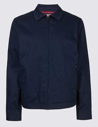 Marks and Spencer Pure Cotton Harrington Jacket with StormwearTM