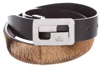 Gucci Pony Hair Buckle Waist Belt