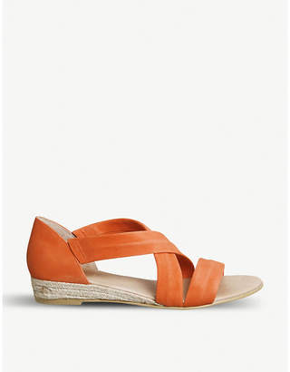 Office Hallie cross-over strap espadrille suede sandals