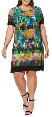 Rafaella Plus Botanical-Print A-Line Dress