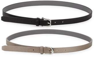Kenneth Cole Reaction Slim 2-Piece Belt Set