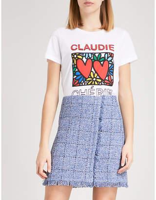 Claudie Pierlot Tiamo cotton-jersey T-shirt
