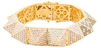 Eddie Borgo Large Pavé Ombré Crystal Pyramid Bracelet