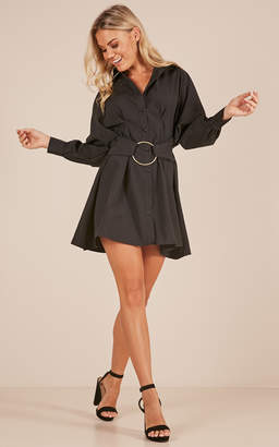 Showpo Make A Statement dress in black
