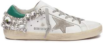 Golden Goose 'Superstar' strass leather sneakers