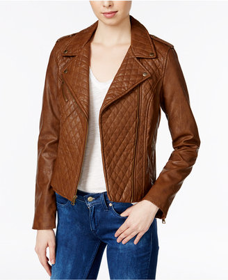 Levi's® Quilted Faux-Leather Moto Jacket $180 thestylecure.com