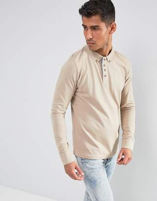 Brave Soul Long Sleeve Pique Polo Shirt