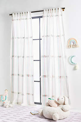 Anthropologie Embellished Mimi Curtain