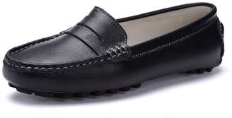6faa20a76a4 SUNROLAN 818-2lan11 Casual Women s Genuine Leather Penny Loafers Driving  Moccasins Slip-On Boat