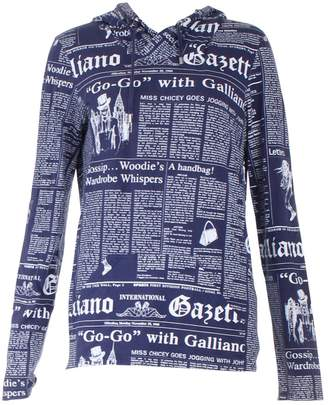 John Galliano Navy Cotton Knitwear