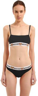 Moschino Teddy Bear Logo Cotton Bra