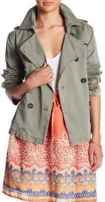 Johnny Was Crop Twill Army Trench Coat $241.50 thestylecure.com