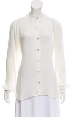 Graham & Spencer Silk Long Sleeve Top