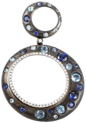 Generic Gemstones 10K & Rhodium 0.18 Ct. Tw. Diamond & Gemstone Enhancer