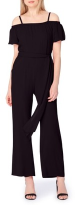 Women's Tahari Off The Shoulder Jumpsuit $138 thestylecure.com