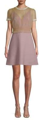 Valentino Sheer A-Line Mini Dress