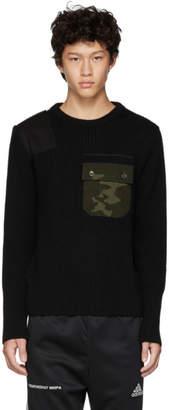 Gosha Rubchinskiy Black Camo Pocket Knit Sweater