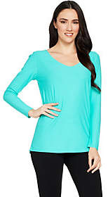 Women with Control Attitudes by Renee Drape Back Crepe Jersey KnitTunic