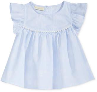 First Impressions Striped Top with Pom-Pom Trim, Baby Girls, Created for Macy's