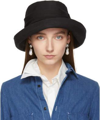 4d5e8cf39f2f8 Y s Ys Black Easy Cloth Bio Washer Sun Hat