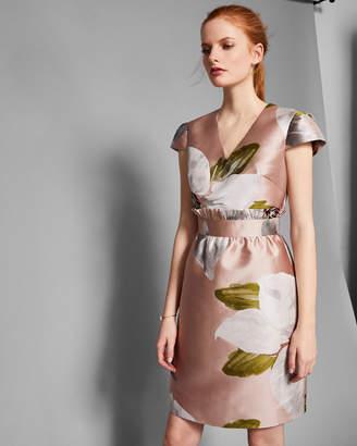 Ted Baker LARAINE Chatsworth jacquard ruffle dress