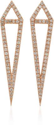 Eva Fehren Dagger 18K Rose Gold and Diamond Studs