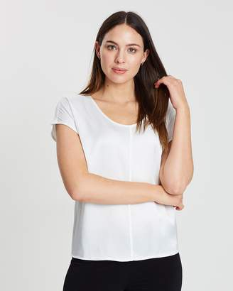 Contrasted Round Neck Top