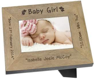 Keepsake BabyFish Baby Girl Personalised Frame