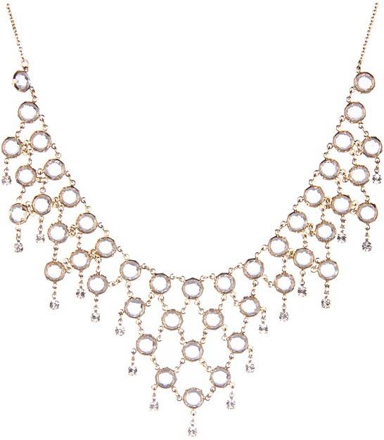 Kate Spade Sparkle Dunes Bib Necklace (Clear Multi) - Jewelry