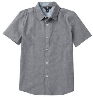 Volcom Everett Oxford Short Sleeve Shirt (Big Boys)