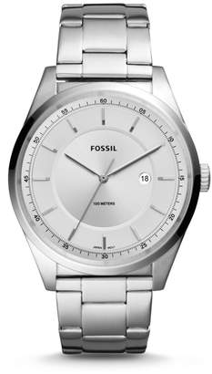 Fossil Mathis Three-Hand Date Stainless Steel Watch