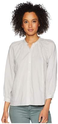 Lucky Brand Stripe Poet Blouse Women's Long Sleeve Button Up