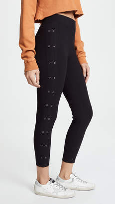 Yummie by Heather Thomson Cotton Grommets Ankle Leggings