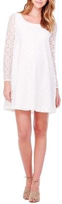 Women's Ingrid & Isabel Dot Lace Maternity Dress $98 thestylecure.com