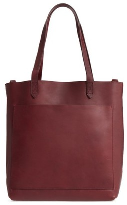 Madewell Medium Leather Transport Tote - Burgundy $158 thestylecure.com
