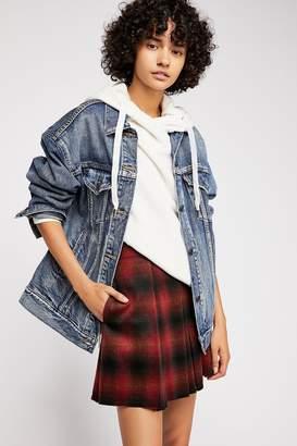 High Waist Pleated Plaid Mini Skirt