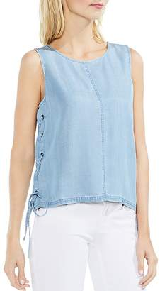 Vince Camuto Chambray Lace-Up Top