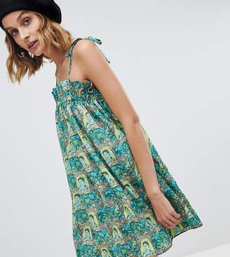 Reclaimed Vintage inspired Frida Kahlo print mini dress
