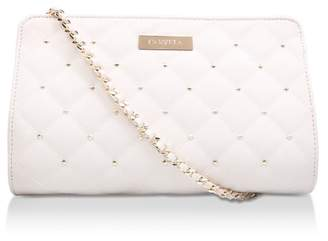 Carvela Cream 'Becca Quilted Evening Bag' Studded Cross Body Bag