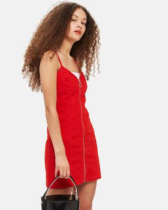 Topshop Zip-Through Body-Con Dress