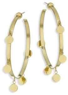 Jennifer Zeuner Jewelry Yolanda Goldplated Dangle Hoop Earrings