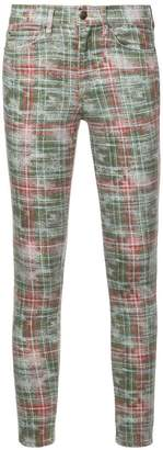 Nicole Miller slim checked jeans