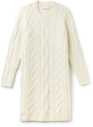Lacoste Women's Alpaga And Wool Cable Knit Sweater Dress
