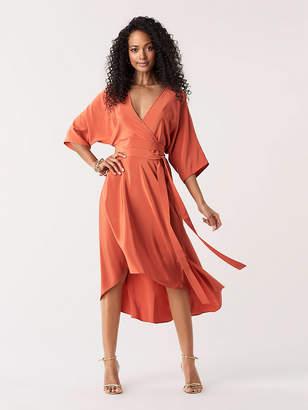 Diane von Furstenberg Eloise Silk High-Low Midi Dress