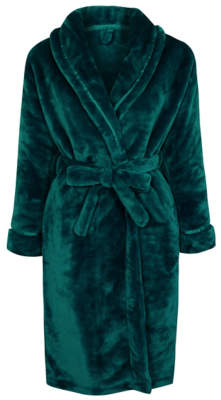 George Forest Green Fleece Dressing Gown
