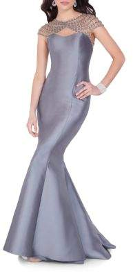 Terani Couture Glamour by Beaded Mermaid Gown