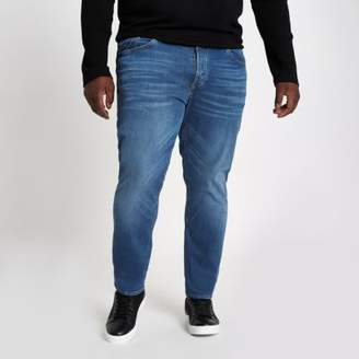 River Island Big and Tall blue Dylan slim fit jeans