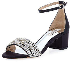 Badgley Mischka Triana Low Chunky-Heel Sandal